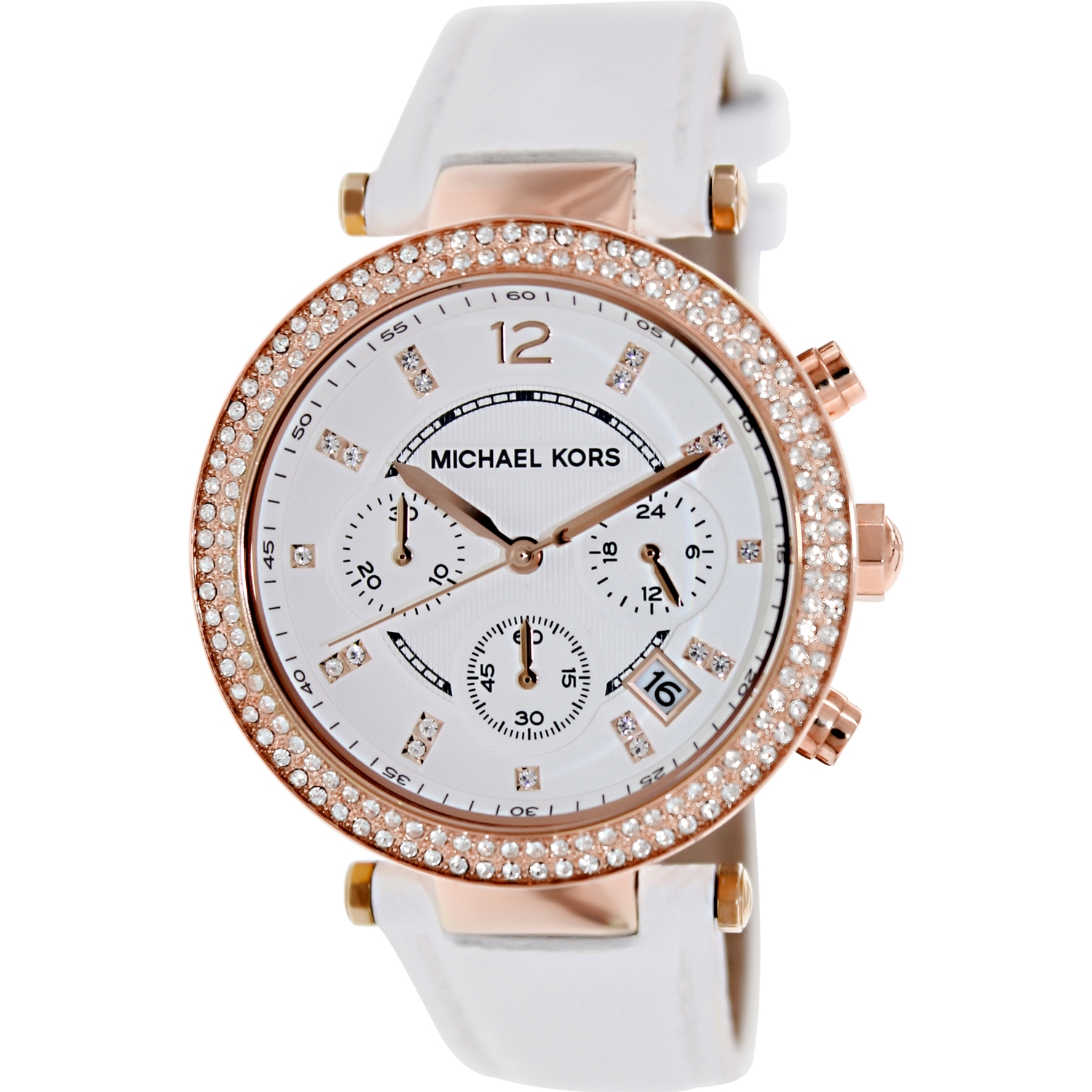 Michael Kors Women's Parker MK2281 White Leather Quartz Fashion Watch