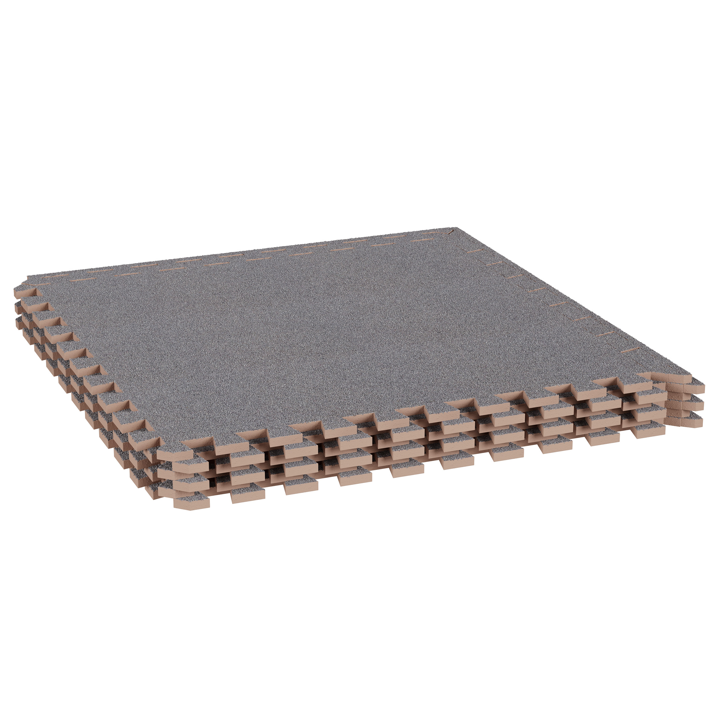 Image of: Foam Mat Floor Tiles Interlocking Eva Foam Padding With Soft Carpet Top For Exercise Yoga Kids Playroom Garage Basement 6pc Set By Stalwart Gray Walmart Com Walmart Com
