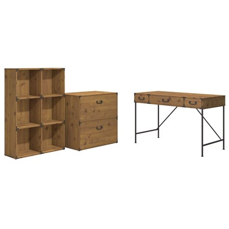 Kathy Ireland Home by Bush Furniture Ironworks 48W Desk with Storage from Kathy Ireland Office Writing Desk