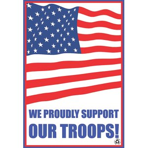 We Proudly Support Our Troops American Flag Color Disposable Paper Floor Mats No Dirt Foot Print For Commercial Busine