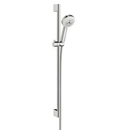 Hansgrohe Crometta Handheld Shower Head Panel with Wallbar