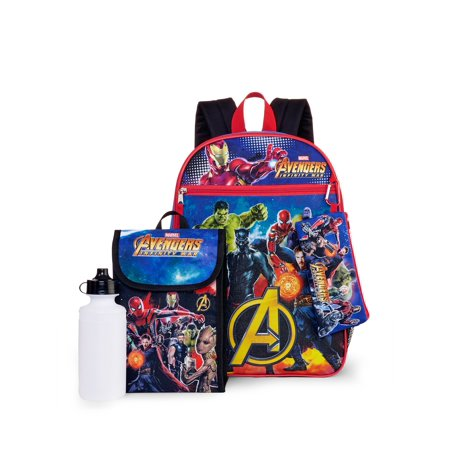 Avengers 5-Piece Backpack Set (Best Backpack For Comic Con)