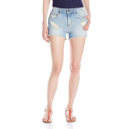Joe's Light-Wash High-Rise Women's Destressed Denim Shorts 28