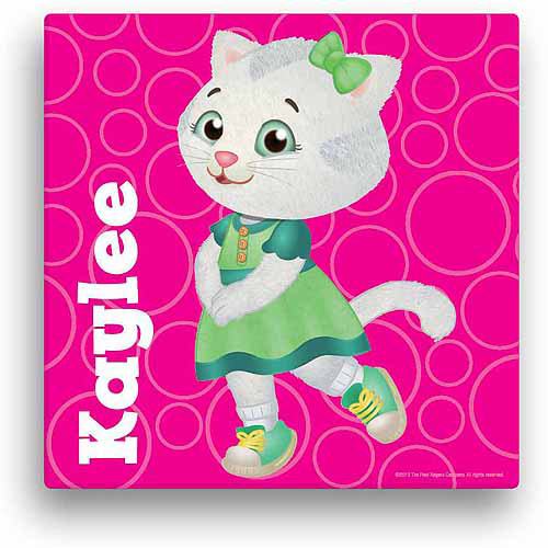 "Personalized Daniel Tiger's Neighborhood Katerina 12"" x 12"" Canvas Wall Art"