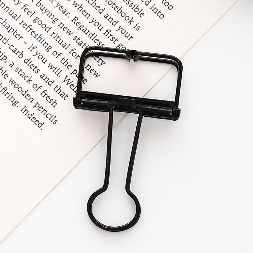 1pc Metal Clip Cute Binder Clips Album Paper Clips