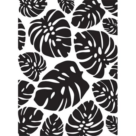 4.25 x 5.75 in. Embossing Folder Tropical Palm Leaves Background Craft
