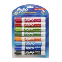 Expo Low Odor Dry Erase Markers, Chisel Tip, Assorted Colors, 8 Count