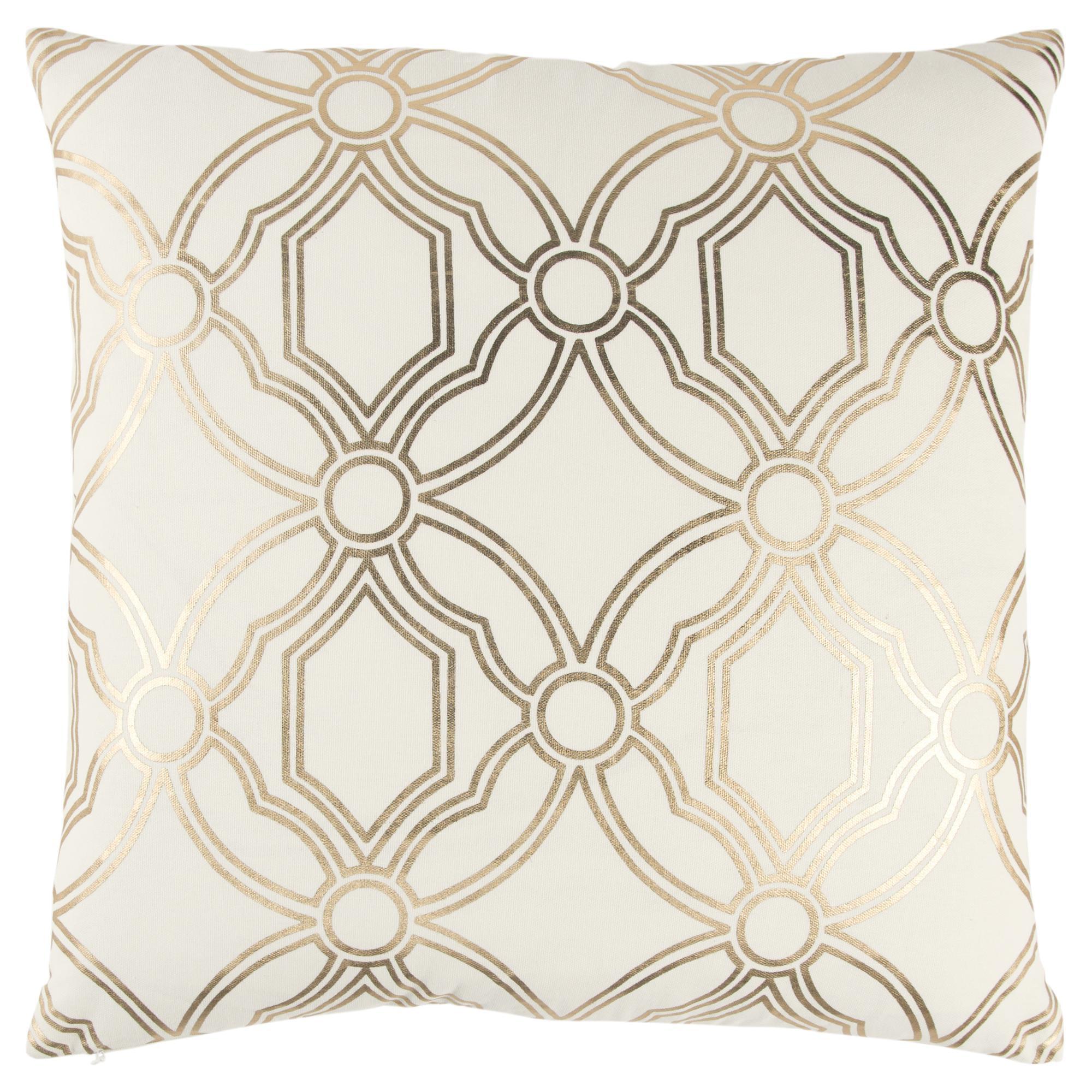 Rizzy Home Geometric Metallic Decorative Pillow