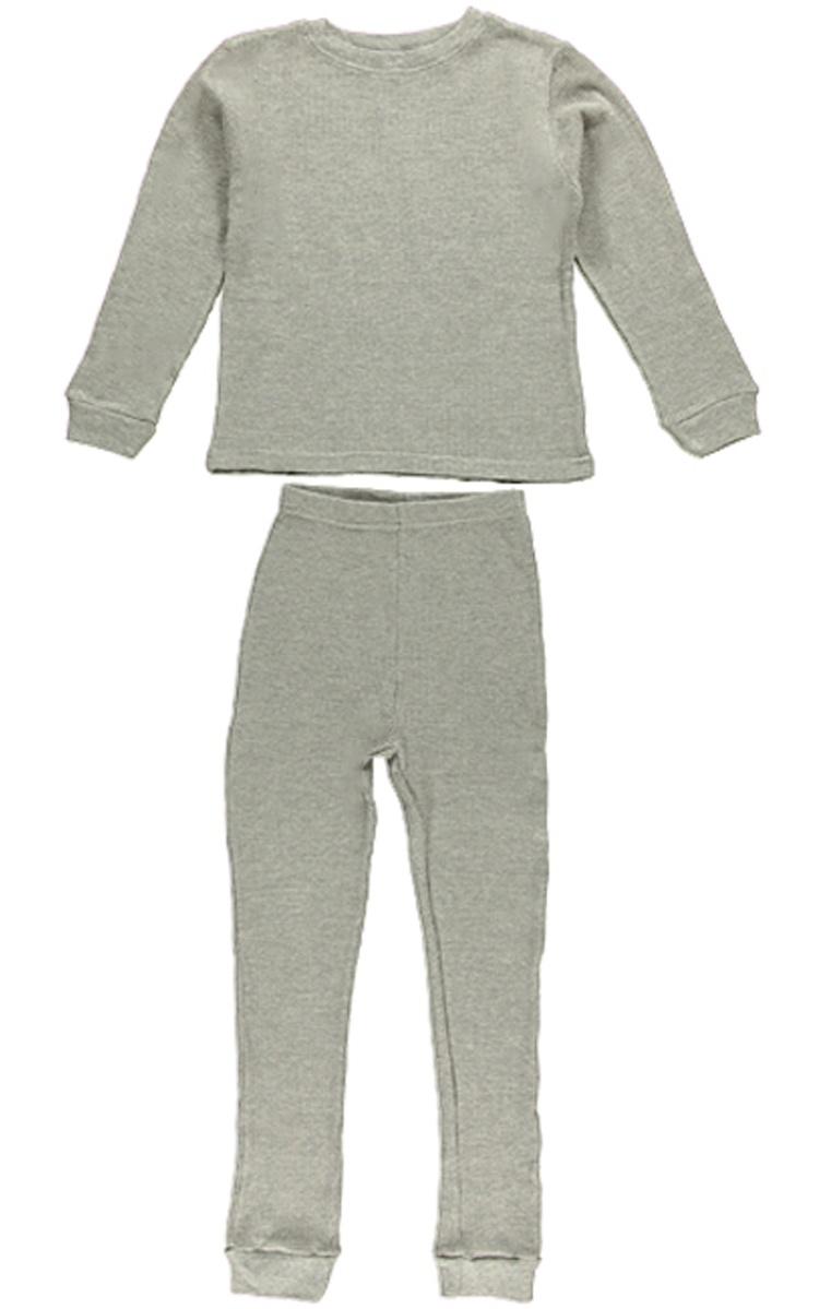 Ice2O Big Boys 2-Piece Thermal Long Underwear Set 14-16 gray