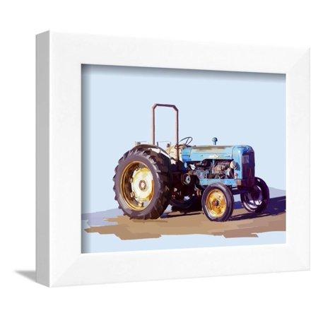 Vintage Tractor I Framed Print Wall Art By Emily Kalina - Walmart.com