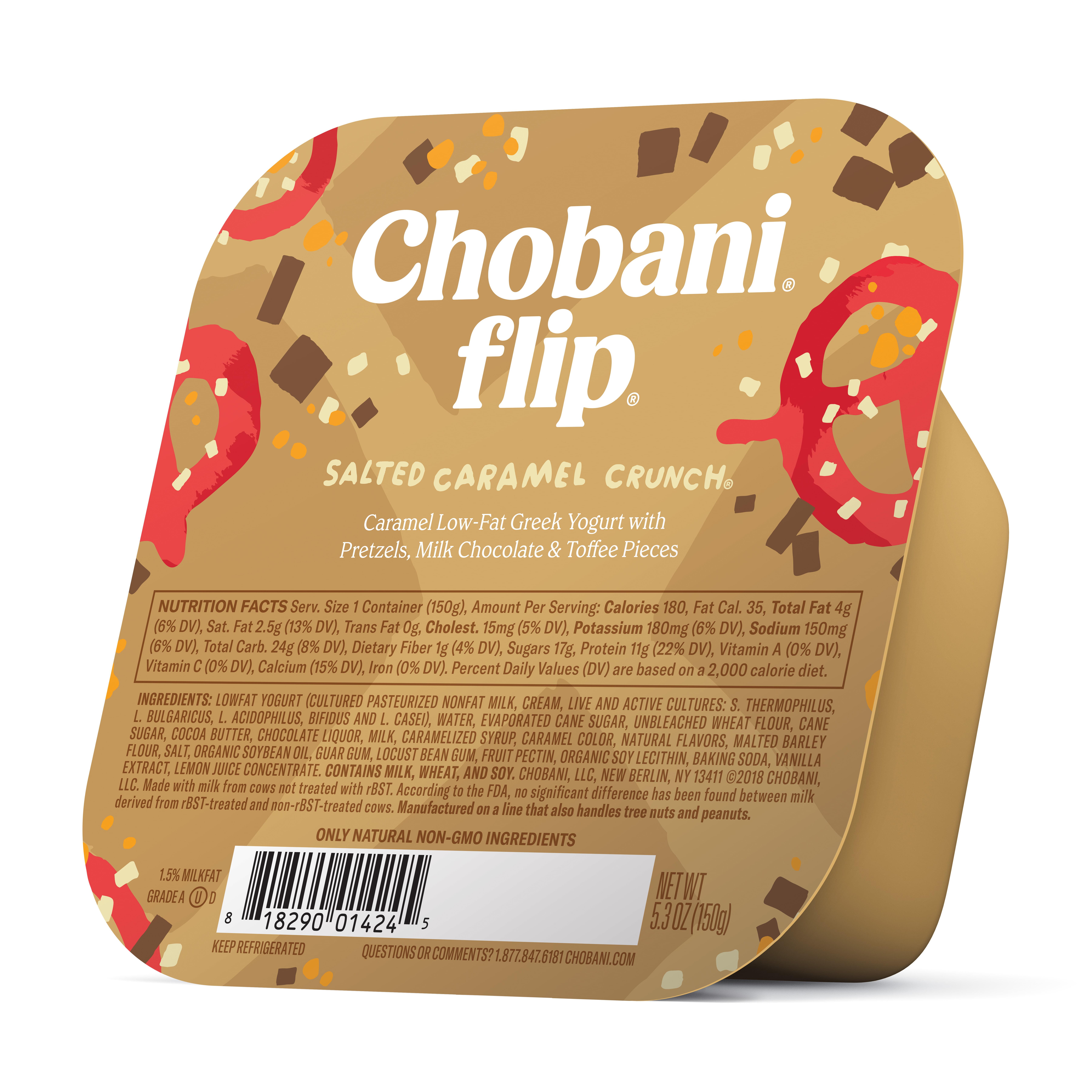 Chobani, Flip Salted Caramel Crunch Low-Fat Greek Yogurt, 5.3 oz