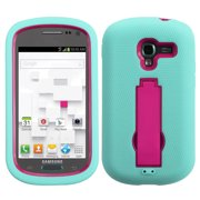For T599 Galaxy Exhibit Hot Pink/Sky Blue Symbiosis Stand Protector Cover