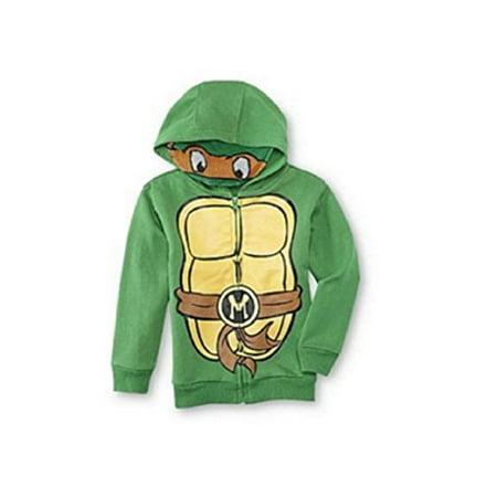 Tmnt Teenage Mutant Ninja Turtle Little Boys Hoodie with Mask Michelangelo (2t) - Ninja Turtle Mask Hoodie