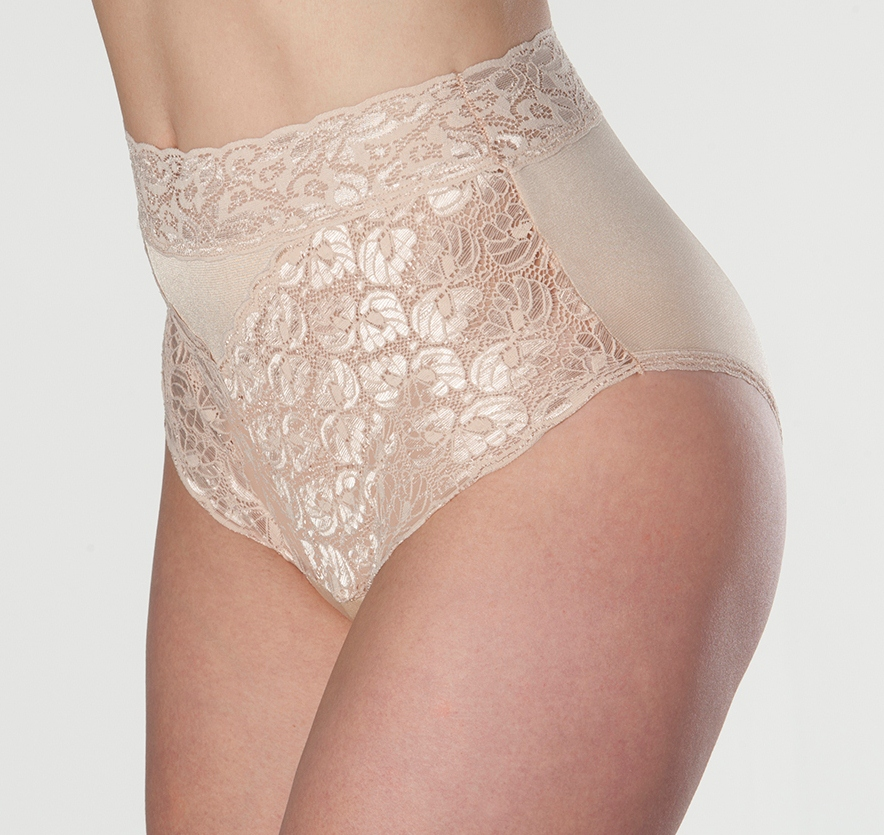 Wearever Women's Lovely Lace Trim Incontinence Panties - Washable Reusable Bladder Control Briefs - Single Pair