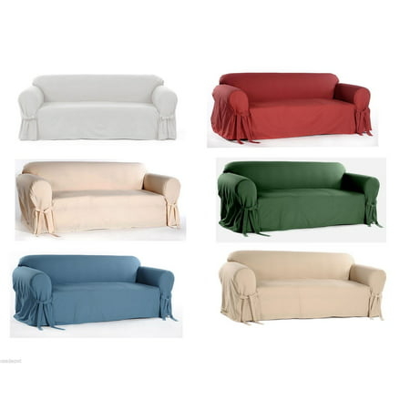 Arm Slipcover (Cotton Dock Round Arm Slipcover for Sofa, Loveseat and)