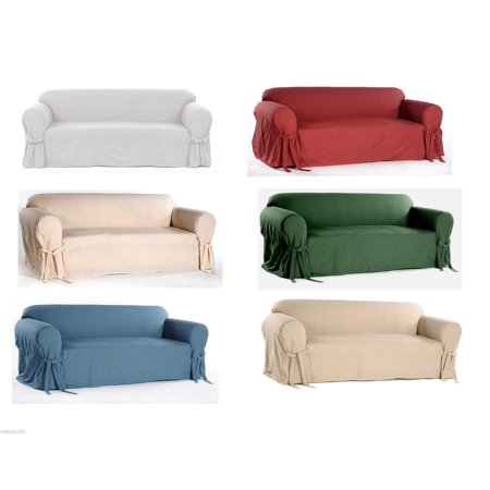 Admirable Cotton Dock Round Arm Slipcover For Sofa Loveseat And Chair Bralicious Painted Fabric Chair Ideas Braliciousco