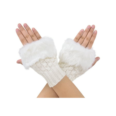 Style Fingerless Gloves (HOT Style women's knit Winter warmer fingerless gloves )