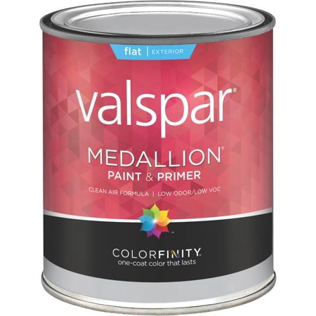 Valspar Brand 1 Quart Flat Clear Base Medallion Exterior Latex House Paint 27 4