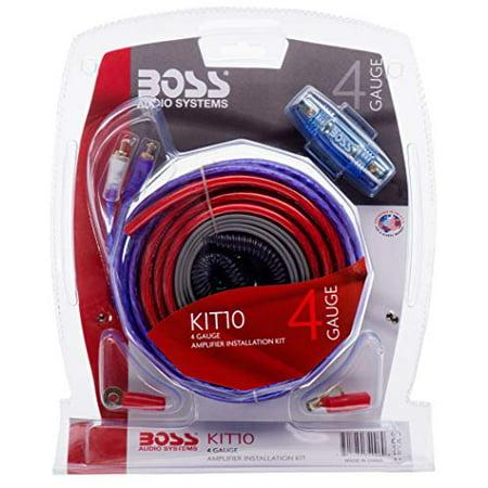BOSS Audio KIT10 4 Gauge Amplifier Installation Wiring Kit – on