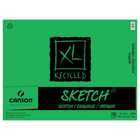 Canson XL Recycled Sketch Pad, 18in x 24in, 50 Sheets ()
