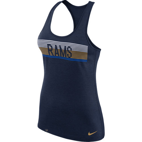 Women's Nike Heathered Navy Los Angeles Rams Touch Performance Tank Top