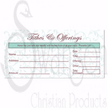 Swanson Christian Supply 196431 Envelope Tithes & offerings - Pack of 100 Thanksgiving Offering Envelope