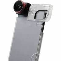 olloclip 4-in-1 Combo Lens for Apple iPhone 5/5S, Red/Black