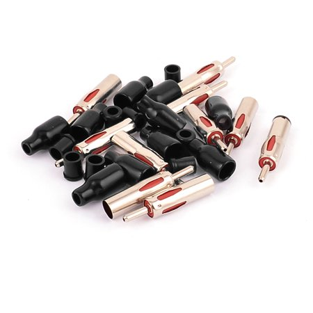 Many Auto Accessories - Unique Bargains 10 Pcs Auto Car Radio Antenna Cable AM/FM Male Plug Adapter Connector
