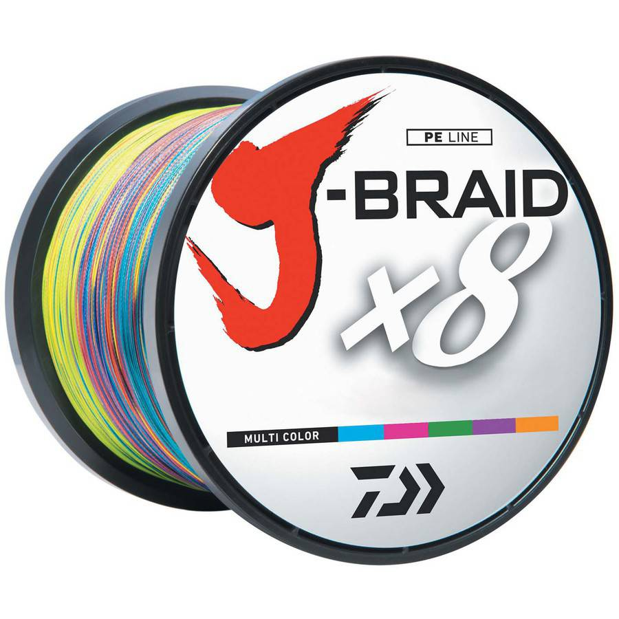 Click here to buy Daiwa J-Braid Multi-Color Fishing Line, 1650 yds, 120 lb Test by Daiwa.