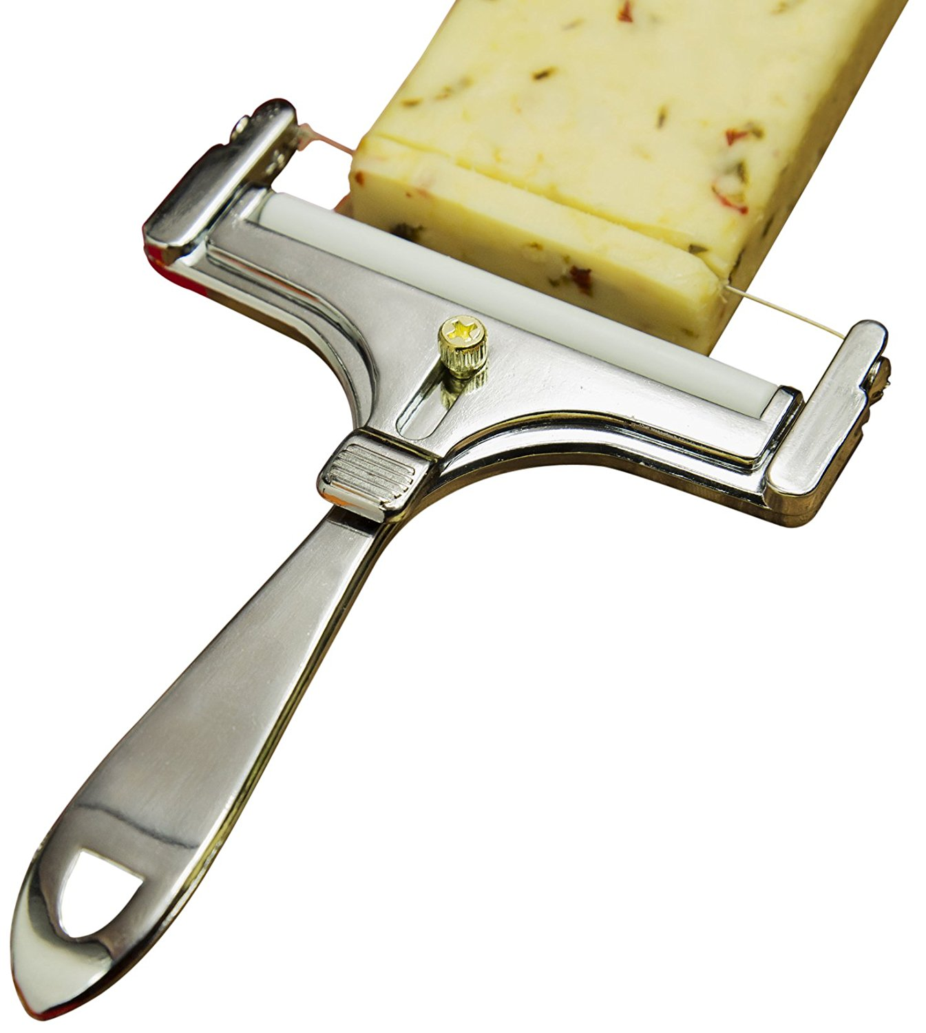 Brands Adjustable Cheese Slicer, Wine New Heavy Slicer 1year Wire Pro Cutting Planewith CherryOlive Warranty Marble Adjustable Fox Handle Thickness 7.., By Fox Run
