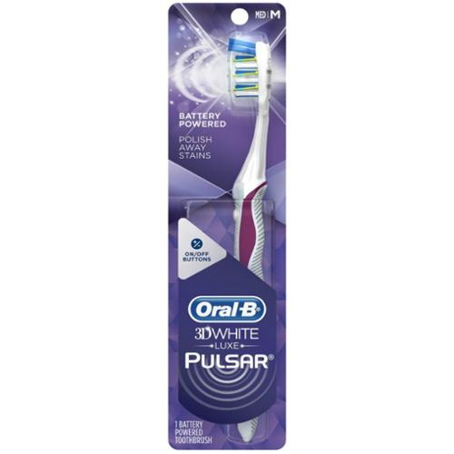Oral-B Pulsar 3D White Advanced Vivid Toothbrush, 35 Medium - 1 Ea