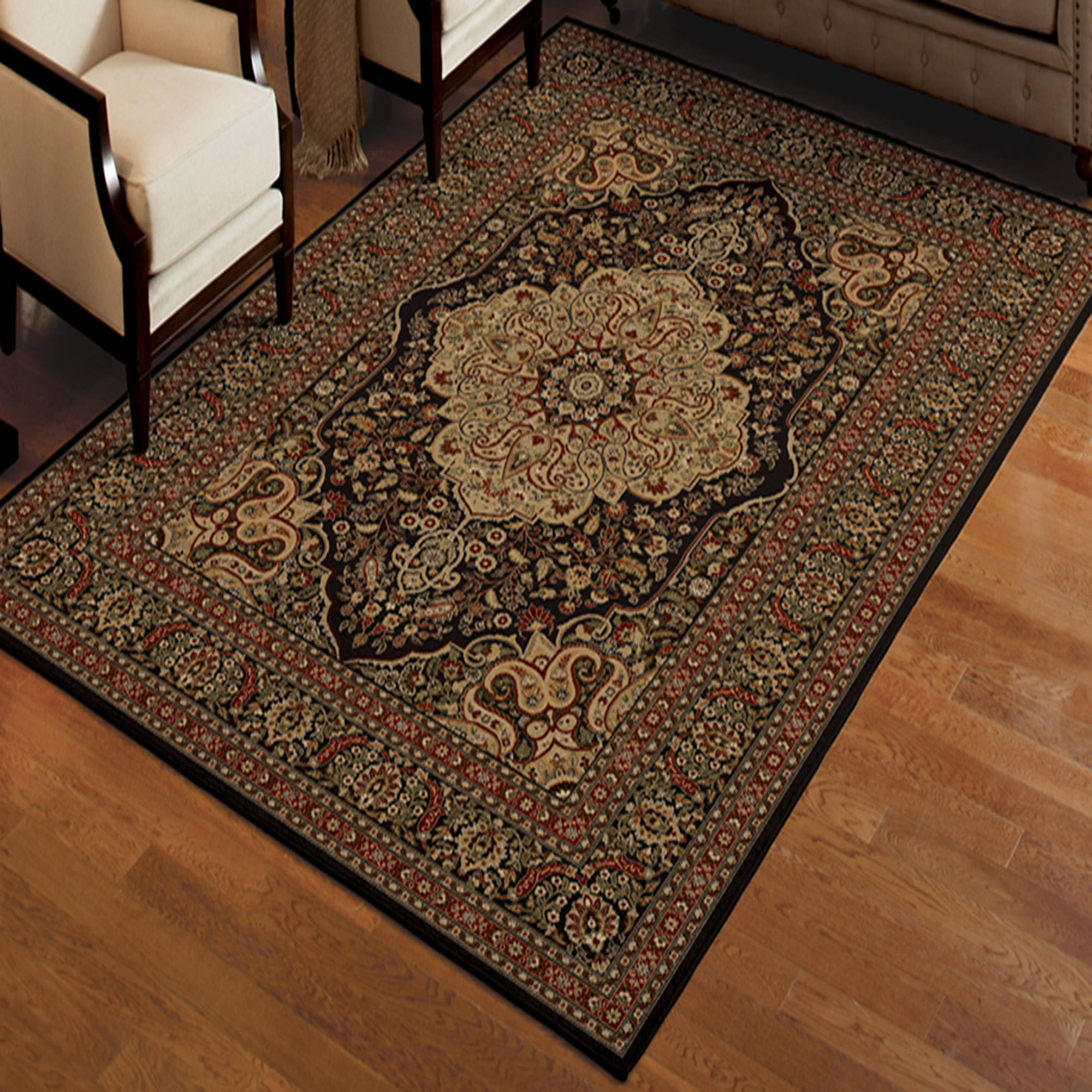 Kindley Black Area Rug 6 7 X 9 8 Walmart Com