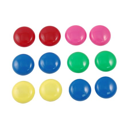 Unique Bargains 12 Pcs Home Multicolor Whiteboard Fridge Refrigerator Magnets (Best Magnets For Magnet Fishing)