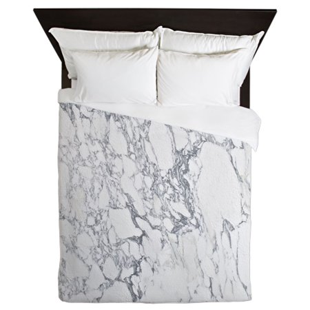 CafePress - Marble Shower Curtain - Queen Duvet Microfiber ()
