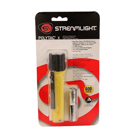 Streamlight Polytac X,600 Lu,Two Cr123a Lithi,Yel,Cp - image 1 of 1