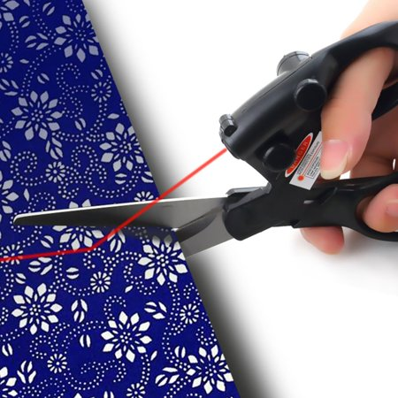 Laser Guided Fabric Scissors Trimmer Sewing Cut Straight Fast Paper Craft Fabric Craft Papers