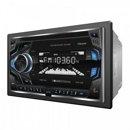 Soundstream VCD22B 2-din Cd/mp3 Head Unit W/ 32gb Usb Sd Aux & Bluetooth