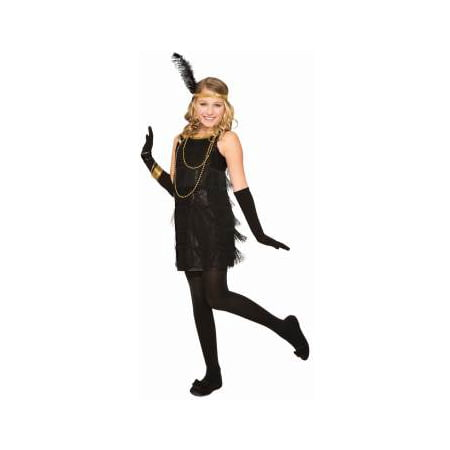 ROARING 20'S FLAPPER-BLACK-LRG (Roaring 20s Dress)