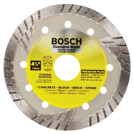Premium Plus Diamond Blade - Bosch DB4563 4 1/2 in. Premium Plus Turbo Diamond Abrasive Blade