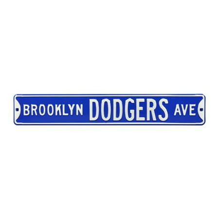 Brooklyn Dodgers Ave Street Sign (No 1 Chinese Restaurant Washington Ave Brooklyn Ny)