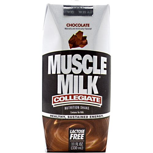 CytoSport, Collegiate Muscle Milk Chocolate Milk 11 Fl Oz Shakes 12/Case