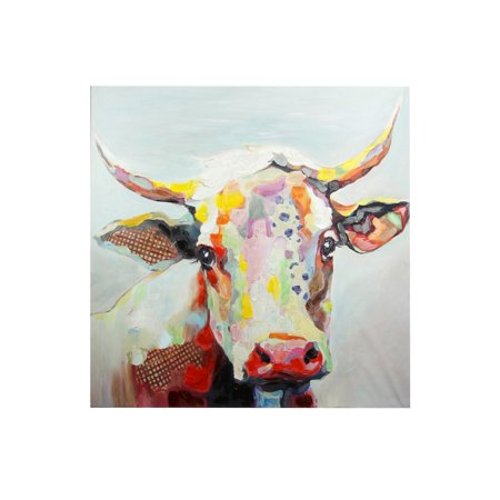 Colorful Cow - Printed Canvas Wall Art