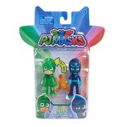 PJ Masks Duet Figure Pack: Light Up Hero vs. Basic Villain-Gekko vs. Night Ninja