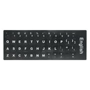 English QWERTY Replacement Keyboard Sticker with Big Letters Non-Transparent Universal for Laptop Notebook