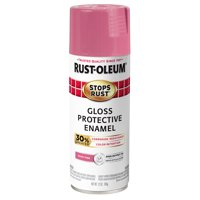Rust-Oleum Stops Rust Advanced Gloss Poppy Pink Protective Enamel Spray Paint, 12 oz