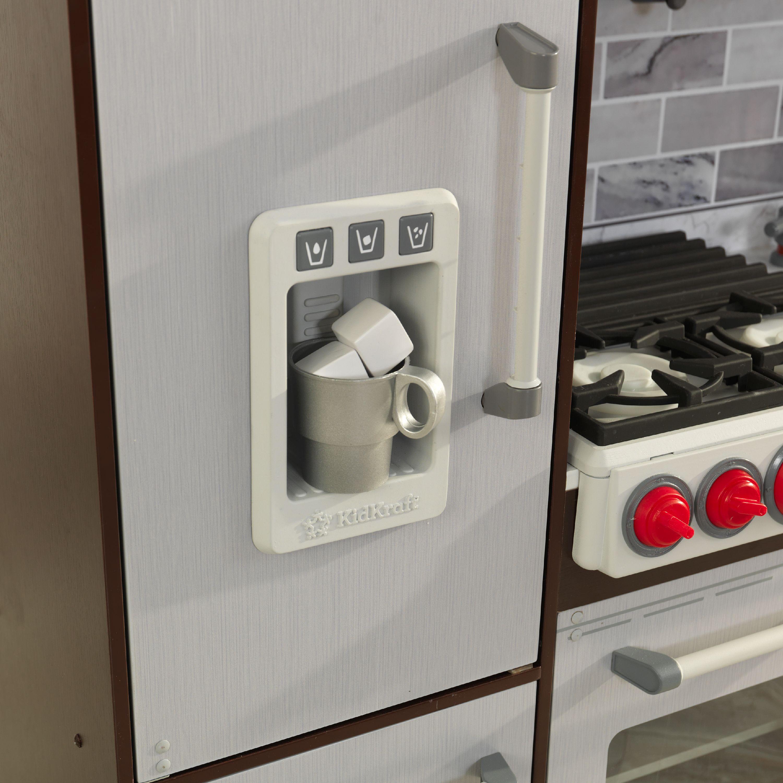 KidKraft Uptown Elite Espresso Play Kitchen with EZ Kraft ...