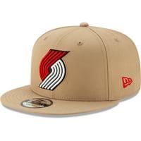 Portland Trail Blazers New Era 2019/20 City Edition 9FIFTY Snapback Adjustable Hat - Khaki - OSFA