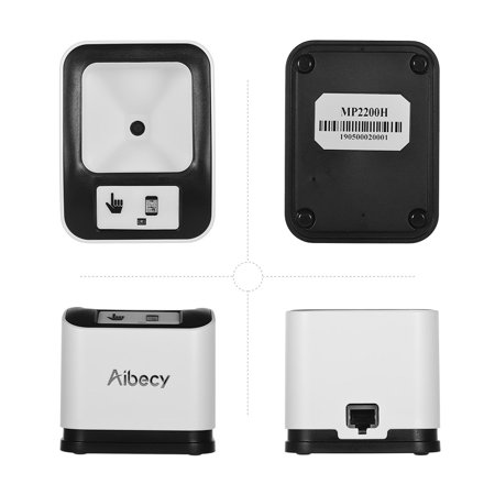 Aibecy 2200 1D/2D/QR Bar Code Scanner CMOS Image Desktop Barcode Reader USB Omnidirectional Screen Barcode Scanner - image 5 of 7