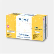 Tronex-PE Embossed Glove, Food Safe, Powder-Free, Clear, Medium (Case of 2000)