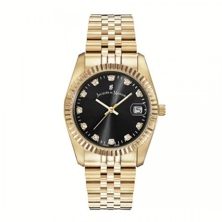 Standard Issue Swiss Watch - Jacques Du Manoir Women's Swiss Made Stainless Steel Watch, 36mm